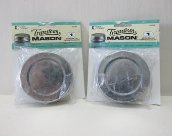 Transform Mason Retro Zinc Lid Regular Mouth Jar 2 packages Loew Cornell Ball Kerr