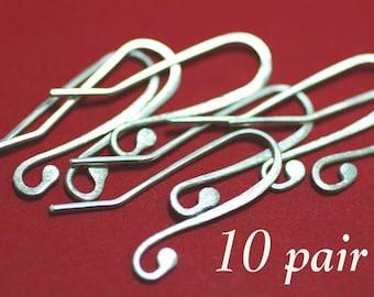 FSEW10- Fine Silver Earwires 10pr