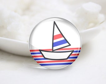 10mm 12mm 14mm 16mm 18mm 20mm 25mm 30mm Handmade  Photo Glass Cabochons Cover-Boat (P1858)