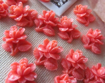 Small Vintage Celluloid Rose Flowers
