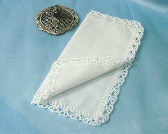 Petite Handkerchief, Small Hankie, Custom Embroidered, Monogrammed, Baptism Gift, Bridal Lace Gift, Ready to ship