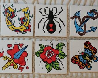 Vintage Tattoo Coasters