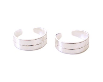 2 Kitten Cuff Knuckle Rings - Adjustable Cuff Midi Rings, stacking rings