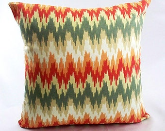 Orange chevron pillow cover, Orange home decor, Orange throw pillow, Chevron pillow, Orange cushion cover, Decorative throw pillows