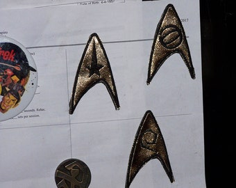 Star Trek TOS  The Original Series UNIFORM INSIGNIA patch refrigerator MAGNeTS.  Command, Science, Engineering Your Choice