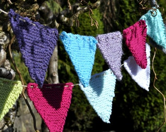 Knit Bunting Flags/Banner - many colours available