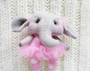 Textile Brooch Little Elephant girl