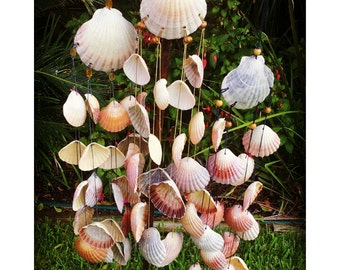 Seashell Wind Chime, windchime, garden decor, wall hanging