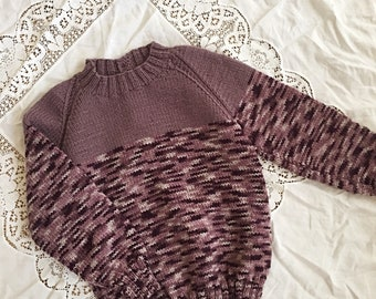 Girl's Knitted Purple Toned Sweater