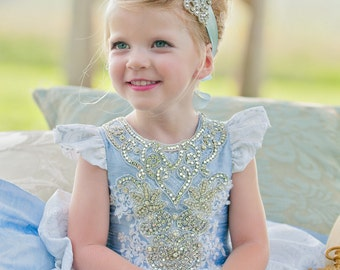 Cinderella costume, Blue Princess, Halloween Costume, Child's Princess Costume, Birthday Dress