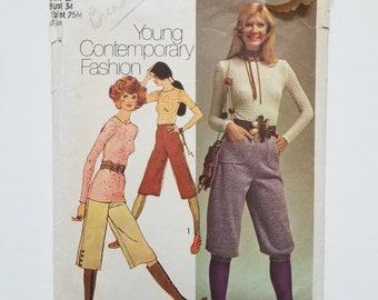 1970's Simplicity 9459 gaucho pants pattern
