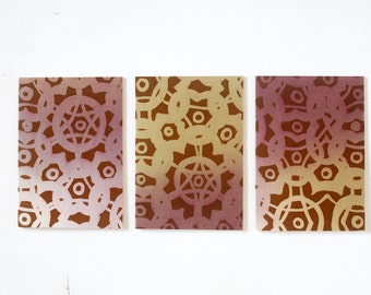 Batik Greeting Card - Kaleidoscope no.50