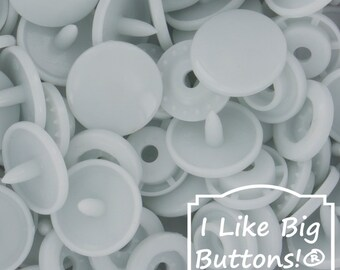 G61 BG Sweet for Cloth Diapers/Bibs/Crafts/Plastic Snap Buttons Pale Blue