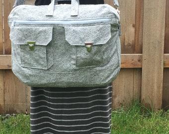 Ravenwood Messenger Bag // Crossbody Messenger Laptop Bag // Tech Bag