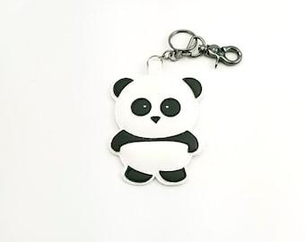 Panda keychain, keychain, bag tag, luggage tag