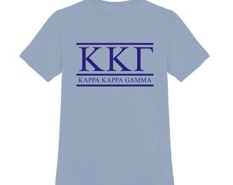 Kappa Kappa Gamma Shirt; Sorority Shirt; KKG Shirt; Sorority Gift; Sorority Big Little; Kappa Kappa Gamma T-Shirt; Kappa Kappa Gamma Top