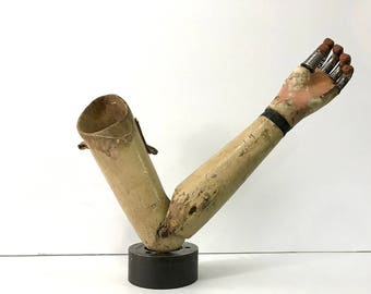 Prosthetic Arm and Hand 1930's Vintage Medical Museum Collectible
