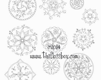 Mandala Embroidery Patterns 2