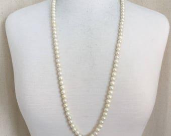 Key Necklace, Pearl Key Necklace, Pearl Necklace, Key, Antique Key, Vintage Key