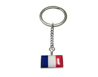 France Flag Pendant Keychain