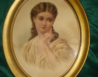 Watercolour Portrait od Young Woman