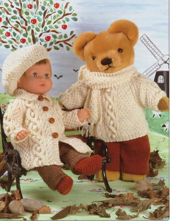 Dolls Knitting Pattern Teddy Knitting Pattern Dolls Clothes
