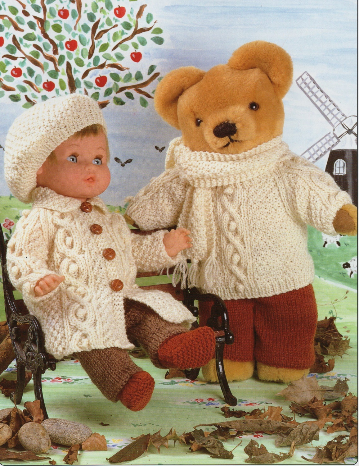 Attractive Free Knitting Patterns For 12 Inch Dolls Clothes Sketch ...