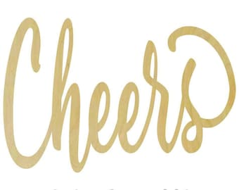 Custom Wooden Cheers Sign - Door Hanger - Wall Hanger