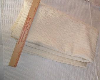 "Vintage Eggshell Nylon Fabric - 59"" length x 62"" width"