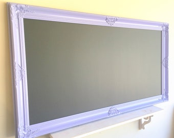 Lilac DECORATIVE CHALKBOARD Purple Chalkboard XXL Magnetic Chalkboard Large Chalkboard Lavender Playroom Wall Decor Girls Room Decor Black