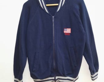 Vintage Sweatshirt USPOLO full zipper sweater embroidered Logo USA
