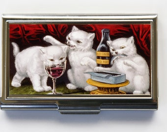 Three Kittens Business Card Holder Card Case