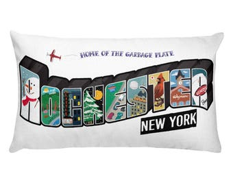 Rochester NY, New York Vintage Rectangular Pillow