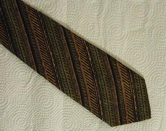 Men's Silk Necktie -Louis Feraud  - Vintage - Made in Italy