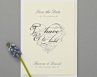 To Have And To Hold Save The Date Cards