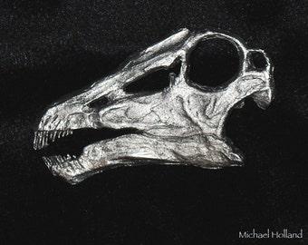 Pewter Dinosaur Pin - Diplodocus