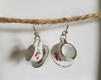 Miniature Tea Cup Earrings