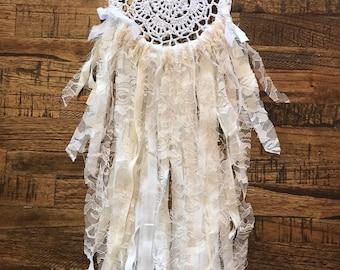 White Lace Dream Catcher