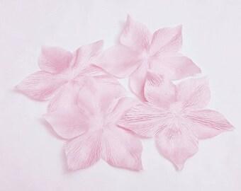1 Fleur jewelry for wedding, scrapbooking, card making, sewing each light pink silk satin