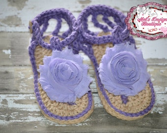 Baby crochet sandals, purple crochet sandals, crochet baby shoes, baby girl crochet sandals, girls crochet sandals, 6-12 month sandals 0-6
