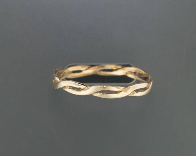Simple Antique Bronze Braid Ring