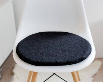 Chair cushion in black, suitable for Eames chair, Limited