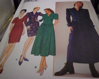 1996 Simplicity 7319 Sewing Pattern, Dress, Sz. 14-16, Cut