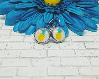 Pineapple Earrings, Pineapple, Leverback Earrings, Stainless Steel, Hypoallergenic, Leverback, Earrings, Pineapple Jewelry