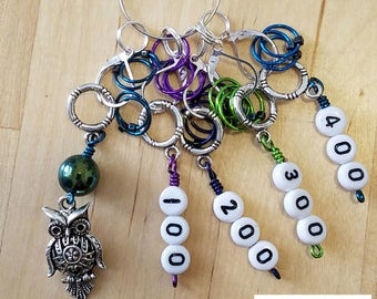 Counting Knit Markers knitting markers stitch markers knitters gifts