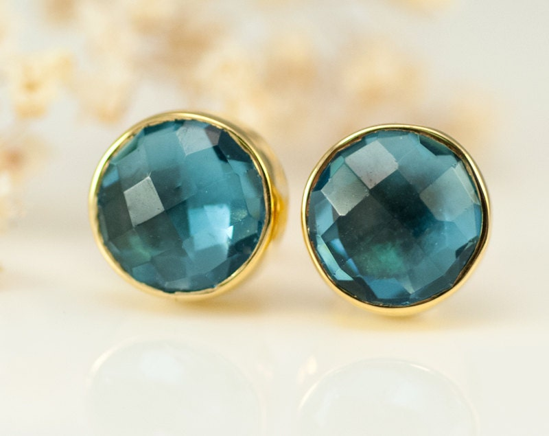 gold birthstone white ge stud december topaz earrings oval
