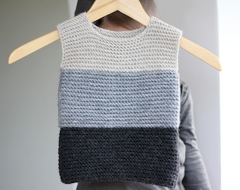 Baby Vest Hand Knitted, clothes for baby,  Baby Vest Hand Knit,  Gray Wool baby Vest,  Knit Waistcoat 0-24 months, 2-4 years