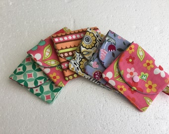 Coin purse - money wallet - coin pouch - fabric purse - change purse - card wallet