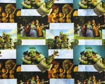 shrek  fabric