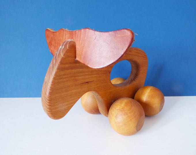 Vintage Carl Nelson wooden Moose Massage toy from Sweden